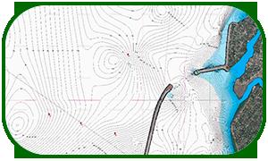 Карта глубин Волгоградское водохранилище ГЭС - В.Погромное