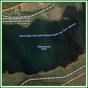 Карта глубин карповского водохранилище